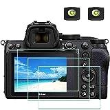 Z5 Bildschirmschutzfolie Schutzfolie für Nikon Z 5 Z5 Kamera und Blitzschuh-Abdeckung, ULBTER 9H Festigkeit LCD Gehärtetes Glas Kratzfest Anti-Fingerabdruck Anti-Staub Blasenfrei, 3 Stück