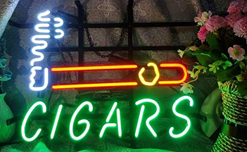 "T33 Cigars neon Light 17""×13"" bar Signs Real Glass NEON Sign 3 Year Warranty Beer Bar Pub Recreation Room Game Light"