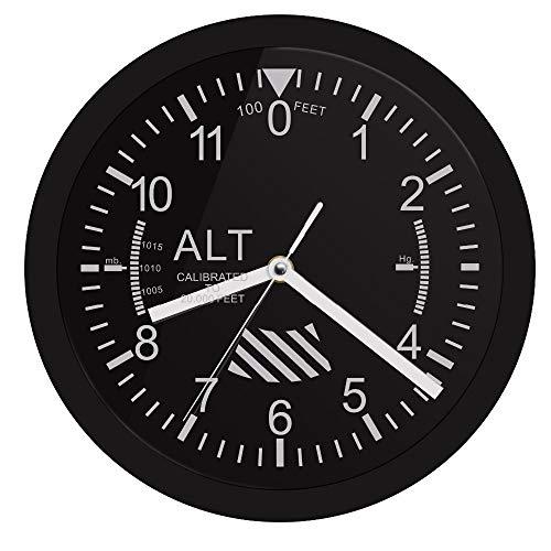 YQCCL Reloj De Pared Led Altímetro Letrero De Neón Medidor De Altitud Piloto De Seguimiento Avión De Aire Medición De Altitud Gag Moderno Regalo Sala De Estar Cocina Bar del Hotel