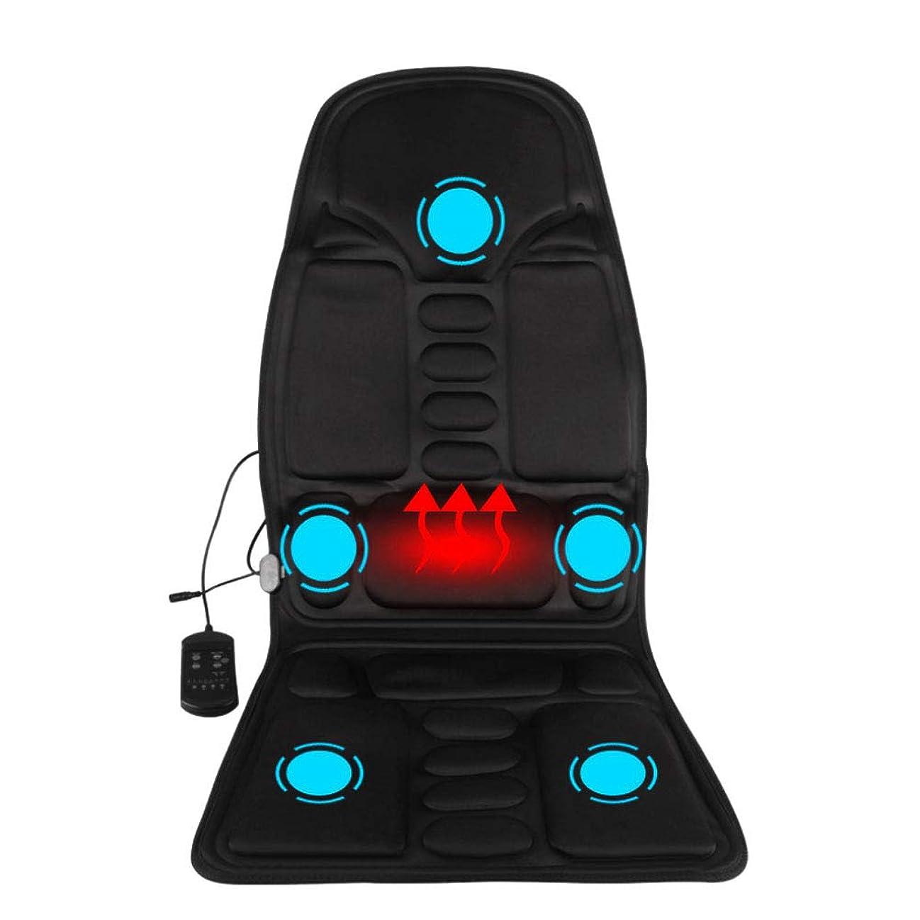 支援する設計図嬉しいですマッサージのあと振れ止めのクッション、車の総本店の5つの熱振動モーターを搭載する背部そして首全体のための携帯用マッサージャーの座席振動のマッサージ