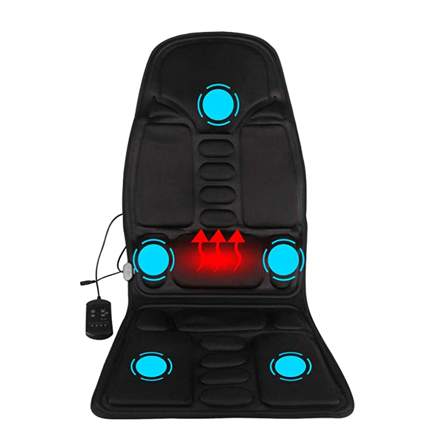 赤道腐食する応援するマッサージのあと振れ止めのクッション、車の総本店の5つの熱振動モーターを搭載する背部そして首全体のための携帯用マッサージャーの座席振動のマッサージ