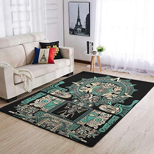 Zhouwonder Zona Alfombra Ja-guar Warrior moderna suave alfombra de suelo para sala de estar, dormitorio, sala de juegos, 122 x 183 cm
