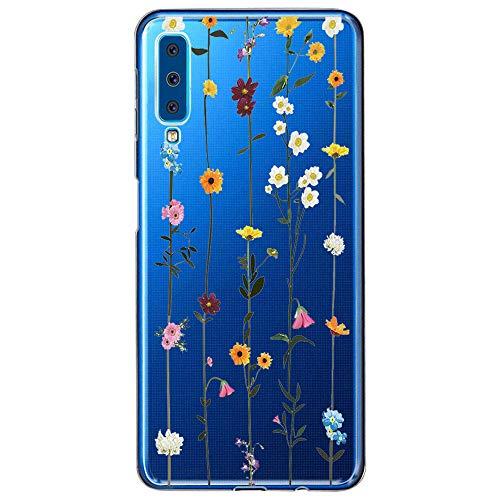 kkkie Case kompatibel Galaxy A7 2018, Ultra Dünn Transparent Weich Silikon TPU Hülle Stoßfest Handyhülle Protective Schutzhülle Nettes Tiermuster kompatibel Galaxy A7 2018 (2.1, Galaxy A7 2018)