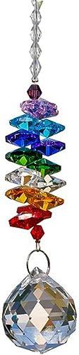 discount Sun Catcher Crystal sale Ball Prism Rainbow Octogon Chakra Hanging Suncatcher Window sale Sun Catcher Rainbow Maker with Colors Crystal Pendants, 30mm sale