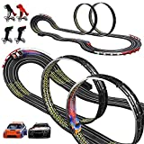 Cusocue High-Speed Electric Powered Super Loop Speedway Slot Car Track Set, Two Cars for Dual Racing with 4 Controllers, Boys Toys for 6 7 8 9 10-16 Years Old Kids Best Gifts