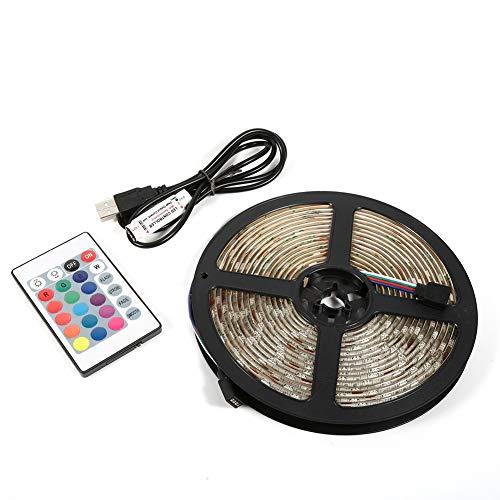 Oure Tiras de luz LED, retroiluminación LED de TV, 5050 Tira de luz LED 5M 5V RGB Luz LED para iluminación de Fondo de TV Luces de Tira de habitación Retroiluminación de TV(Waterproof)