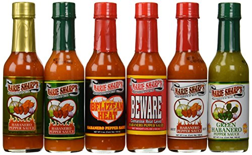 Marie Sharp#039s Hot Sauce 6 Pack Variety Set