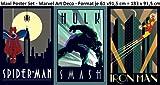 3er-Set Poster Marvel Spider-Man + Hulk + Ironman im