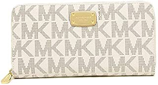 Michael Kors 35H5GJSZ7B Women's Jet Set Signature PVC Travel Wallet - Vanilla