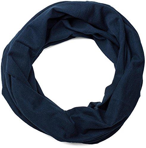 styleBREAKER Jersey Multifunktionstuch, Schlauchtuch, Stirnband, Haarband, Kopftuch, Loop Schlauchschal, Unisex 01012037, Farbe:Midnight-Blue/Dunkelblau
