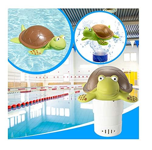 Binhe Turtle Animal Chloordrijver Drijvende chloordispenser, voor zwembaden en whirlpools, SPA