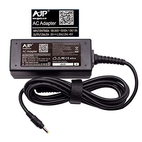 AJP New Compatible with AJP New Compatible with Lenovo Yoga 710-11ISK 80TX 01FR116 Laptop AC Adapter 45W Battery Charger Power Supply Unit 4.0MM x 1.7MM Desktop Type 20V 2.25A PSU Adaptor + Power Cord