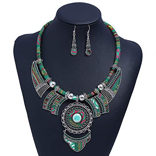 HENGYID Bohemian Necklace Earring Sets for Women
