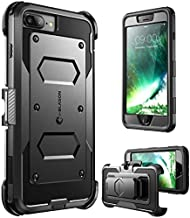 i-Blason Armorbox Case for iPhone 8 Plus/iPhone 7 Plus, Built in Screen Protector Full Body Heavy Duty Protection Reduction / Bumper Case (Black)