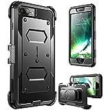 i-Blason, Custodia Protettiva Rigida [Armobox] con Protezione Display e AntiUrto Bumper per iPhone 7 Plus, iPhone 8 Plus, Nero