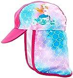 Playshoes Mädchen UV-Schutz Bademütze Meerjungfrau Sonnenhut, Pink, 53cm
