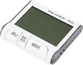 Belika Termómetro Digital LCD Higrómetro-Herramienta de medición de Temperatura y Humedad Interior Duradera con Respaldo y Respaldo