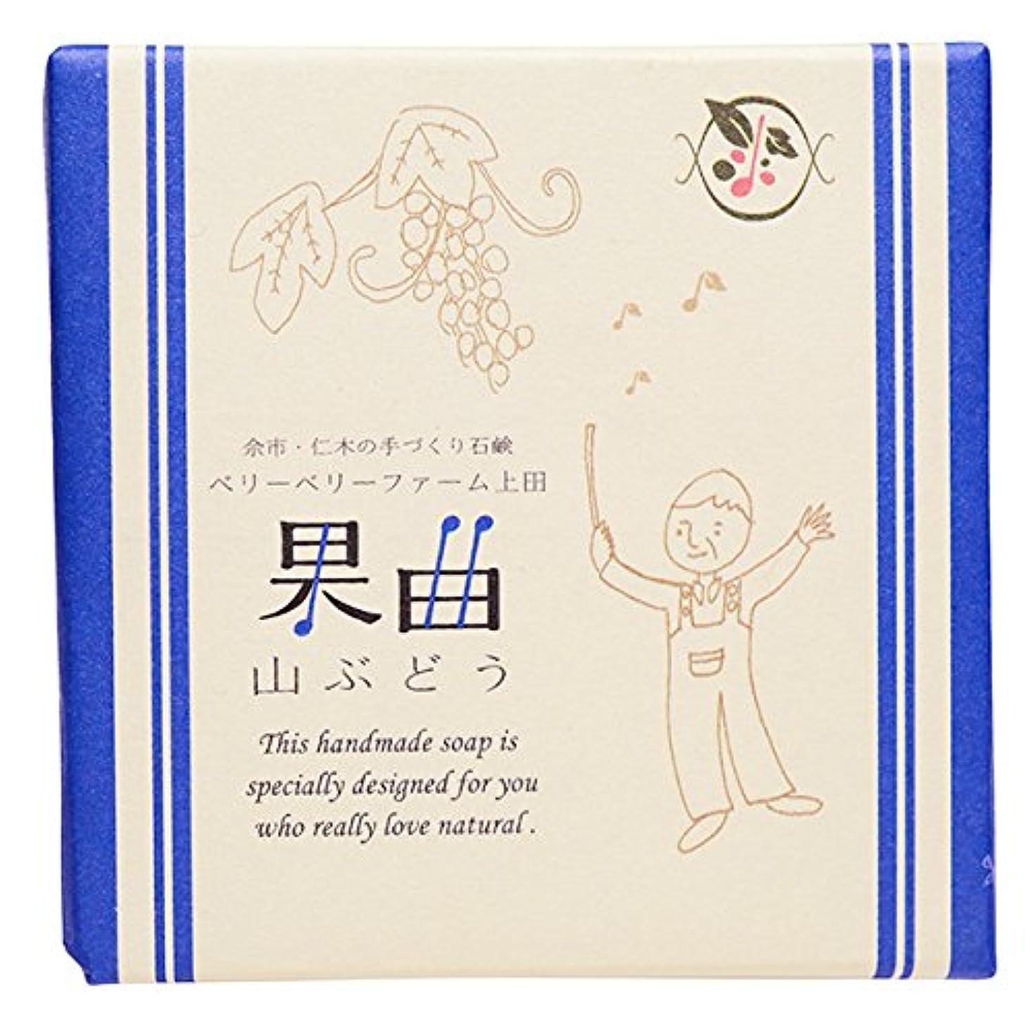 韓国語カートリッジスリル余市町仁木のベリーベリーファーム上田との共同開発 果曲(山ぶどう)純練り石鹸