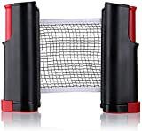 Toyshine Portable Ping Pong Net – Retractable Table Tennis Net for Any Table ,Color May vary (SSTP)
