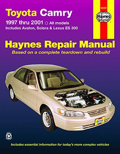 Toyota Camry, Avalon, Solara & Lexus ES 300 1997 thru 2001 Haynes Repair Manual