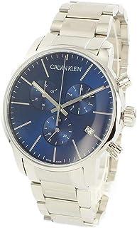 [カルバンクライン]Calvin Klein 【時計収納BOX付き!】メンズ CITY シティ クロノグラフ 43mm ブルー シルバー K2G2714N 腕時計 [並行輸入品]