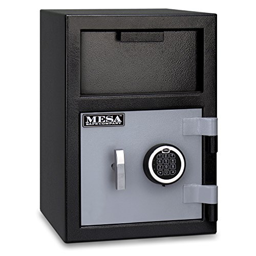 Mesa Safe Company Model MFL2014E Depository Safe with Electronic Lock, Two Tone Gray -