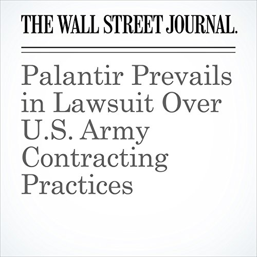 Palantir Prevails in Lawsuit Over U.S. Army Contracting Practices cover art