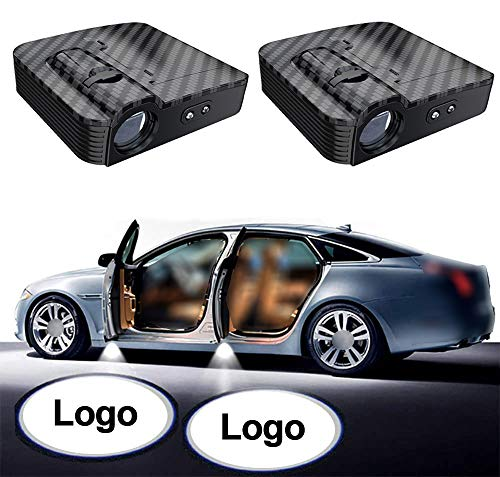 NewL 1 Pairs Custom Logo Wireless LED Projector Car Door Step Courtesy Welcome Lights Shadow LED Lights