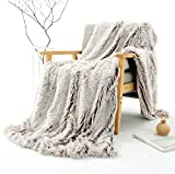 YOU SA New Creative Design Fluffy Shaggy Faux Fur Blanket Ultra Plush Decorative Throw Blanket (Coffee Based,51''x63'')