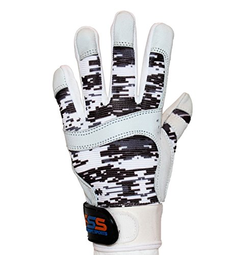 FullScope Sports Baseball Batting Gloves for Adult Boys Girls Youth Pro Softball Glove (Burgundy/Gray/White Digital Camo) Youth Medium (Ages 7-8 yrs Old)
