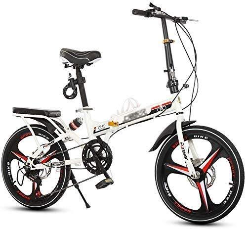 BANANAJOY Bicicletas for niños Bicicleta plegable for adultos 20 pulgadas Hombres y mujeres Bicicleta al aire libre Bicicleta de montaña Estudiante Bicicleta de carretera Atoned for bicicletas for niñ