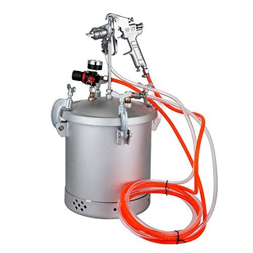 VEVOR Paint Tank 10L Pressure Pot Paint Sprayer 2.5 Gallon Pressure Spray Gun Regulator (10L 1.5mm)