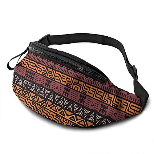 Yuantaicuifeng Riñonera Tribal de Tela de Barro Africana para Mujeres y Hombres, riñonera Impermeable para Correr, Viajes