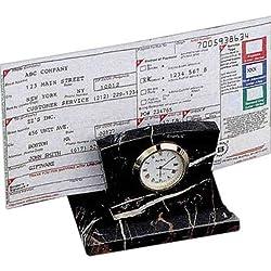 Bey-Berk Stock Market Clock/Letter Rack, D017B