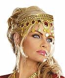 Chaîne bandeau Bollywood coiffe rouge-or de l'Inde arabe Ca
