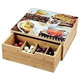 KESPER 58950 Box mit Schublade und 8 Fächern/Kaffeekapsel-Box/Teebox/Teebeutel Box