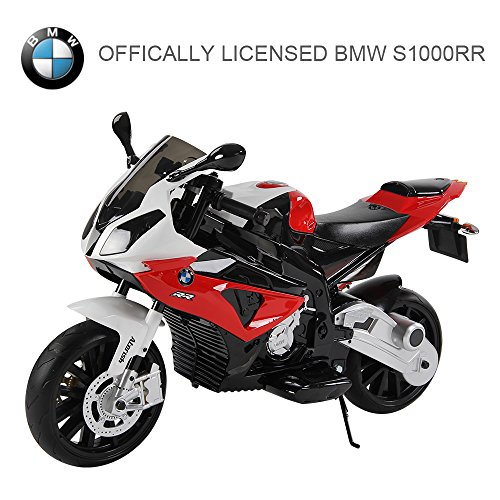 T G OUTLET Electric Ride on Motorcycle Kids Sports Pocket Motorbike Compatible with BMW| 12V Battery | Red Children Toy Car