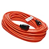 Otimo 100 Ft 16/3 Outdoor Light Duty Extension Cord - 3 Prong Extension Cord, Orange