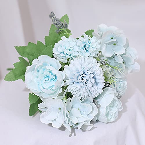 YOUTIFAN Artificial Rose, Peony, DIY Decoration Bridal Wedding Bouquet, Wedding Party Decorations, Hydrangea Arrangements for Home Wedding Table, Indoor Decor, Living, Study, Bedroom Home Decorations