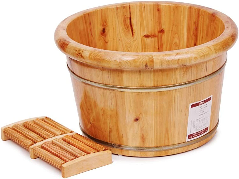 LIZHIQIANGyupen Holz-Fubecken, Pedicure Bowl Spa Massage Massivholz-Fubadewanne, Massivholz Aus Zedernholz-Fubecken Für Eimermassage
