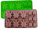 Set von 2 x Silikonform Marihuana Lollipop Gummy Brownies Had Candy Cannabis Weed essbare Blattform...