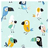 murando Vlies Tapete Kinderzimmer Tiere Deko Panel Fototapete Wanddeko 10 m Tapetenrolle Mustertapete Wandtapete modern design Dekoration - Tiere Vogel Tukan für Kinder g-B-0167-j-a