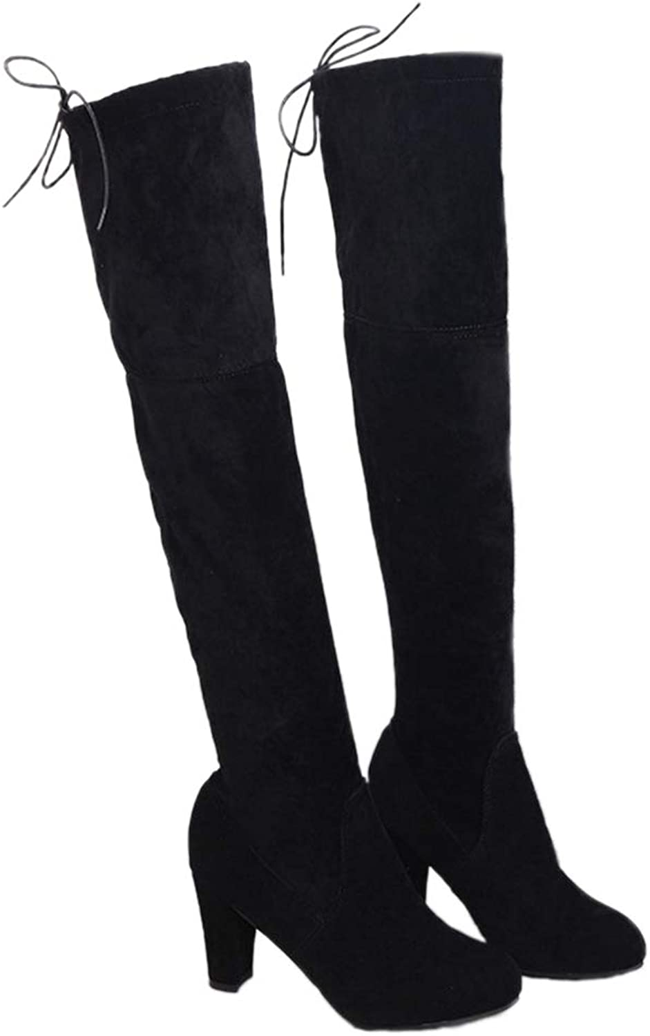Spring Thigh High Boot Faux Suede Leather High Heels Winter Over The Knee Women Fashion Long Boots