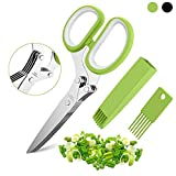 Herb Scissors Set with 5 Blades and Cover - Multipurpose Kitchen...