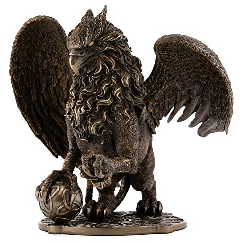 Top Collection Celtic Griffin Statue - Protector of Treasures and Priceless Possessions Gryphon Sculpture in Premium Cold Cast Bronze-9.5-Inch King of The Creatures - Powerful and Majestic Figurine