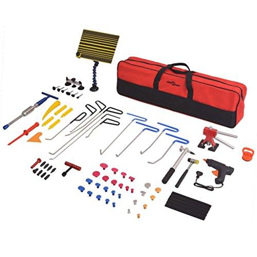 vidaXL Ausbeulwerkzeug-Satz 80-TLG. Edelstahl Lackschadenfreier Werkzeug-Set
