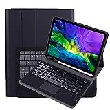 Funda de teclado para Galaxy Tab S6 Lite 10.4 pulgadas 2020 (SM-P610/P615), funda protectora de TPU ultrafina con panel táctil Teclado Bluetooth inalámbrico desmontable