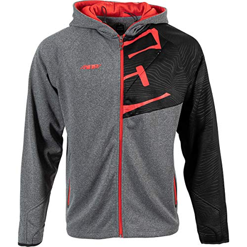 509 Tech Zip Hoodie (Red Gray - X-Large)