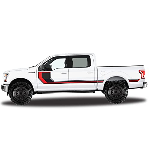 2015 2016 2017 2018 Ford F150 F-150 Front Side Fender Hash Stripe Decal Overlay
