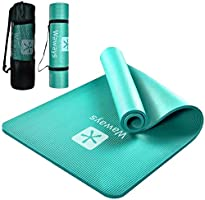 Yoga Mat, Training Mat, Pilates Mat, Exercise Mat, NBR Material, High Density, Thickness 0.4 inches (10 mm), Excellent...